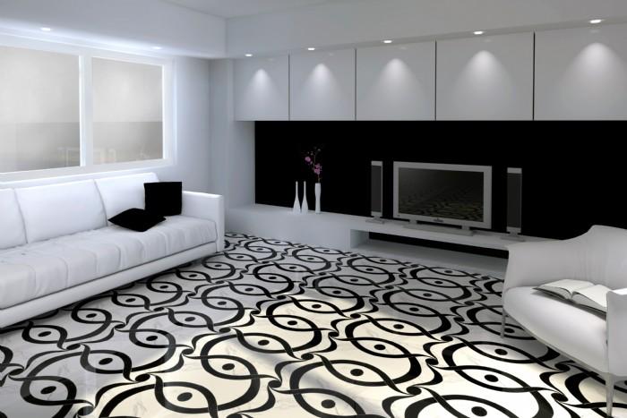 Pavimento bianco e nero marmo bianco e nero rombo for Pavimento bianco e nero