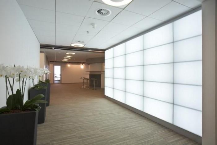Pareti Esterne Illuminate : Pareti tese luminose parete illuminata in sala di attesa belle