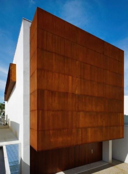 Acciaio Corten - Acciaio corten parete esterna villa ...