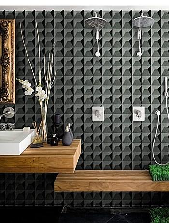Carta da parati per il bagno carta da parati bagno doccia belle dimore arredi e - Carta da parati lavabile per bagno ...