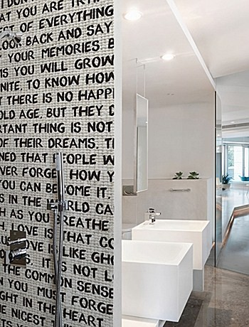 Carta da parati per il bagno carta da parati bagno scritte belle dimore arredi e - Carta parati bagno ...