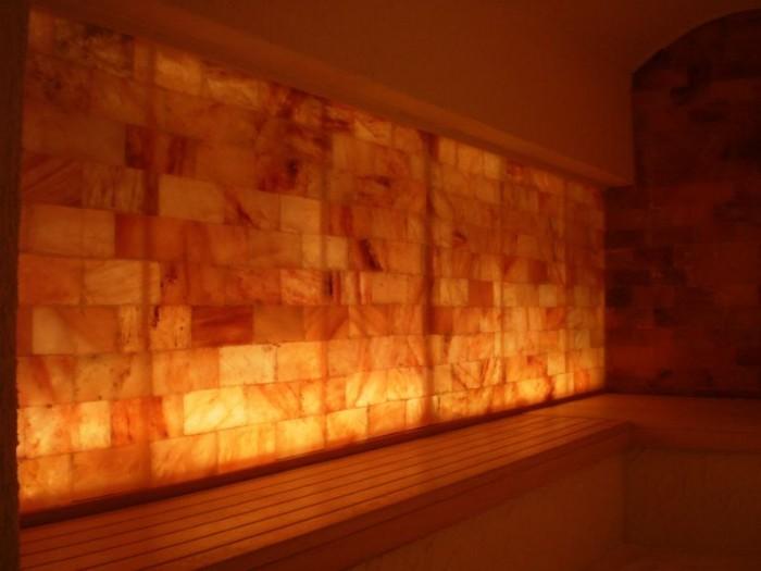 Pareti Esterne Illuminate : Pareti di sale mattoni di sale illuminati belle dimore arredi