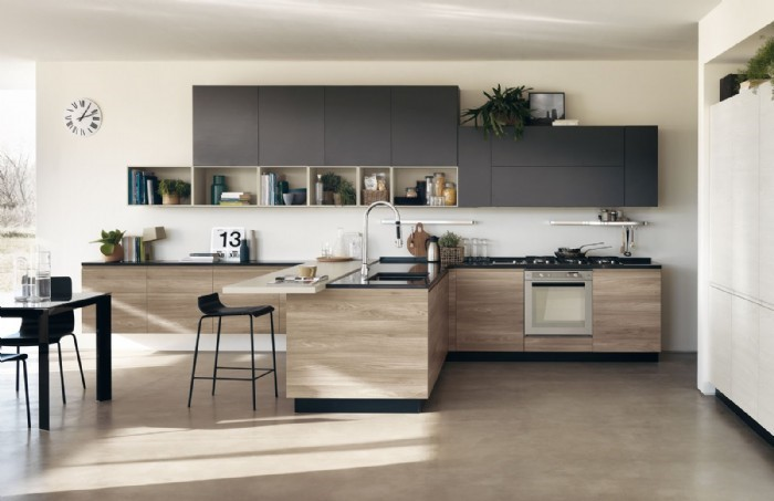 cucina con struttura in truciolato - Cucina in melaminico - Belle ...