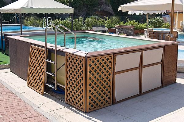 Struttura della piscina piscina fuoriterra con pvc for Piscine fuori terra pvc